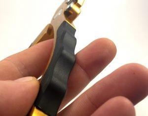 Griffstück Madbite Angelzange gold-schwarz-silber