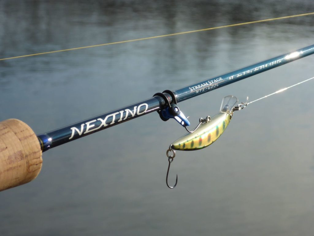 Forellenrute Major Craft Nextino NTS 622L mit Shimano Stradic Ci4 2500