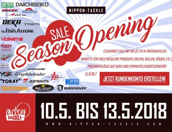 Shopping-Tipp: Season Opening SALE im Nippon-Tackle Shop!