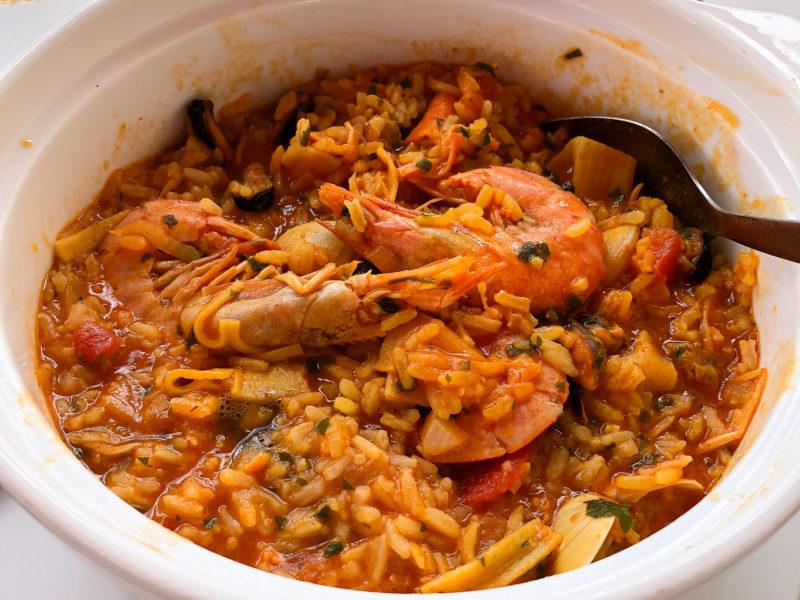 Super leckerer Reis-Fisch-Eintopf