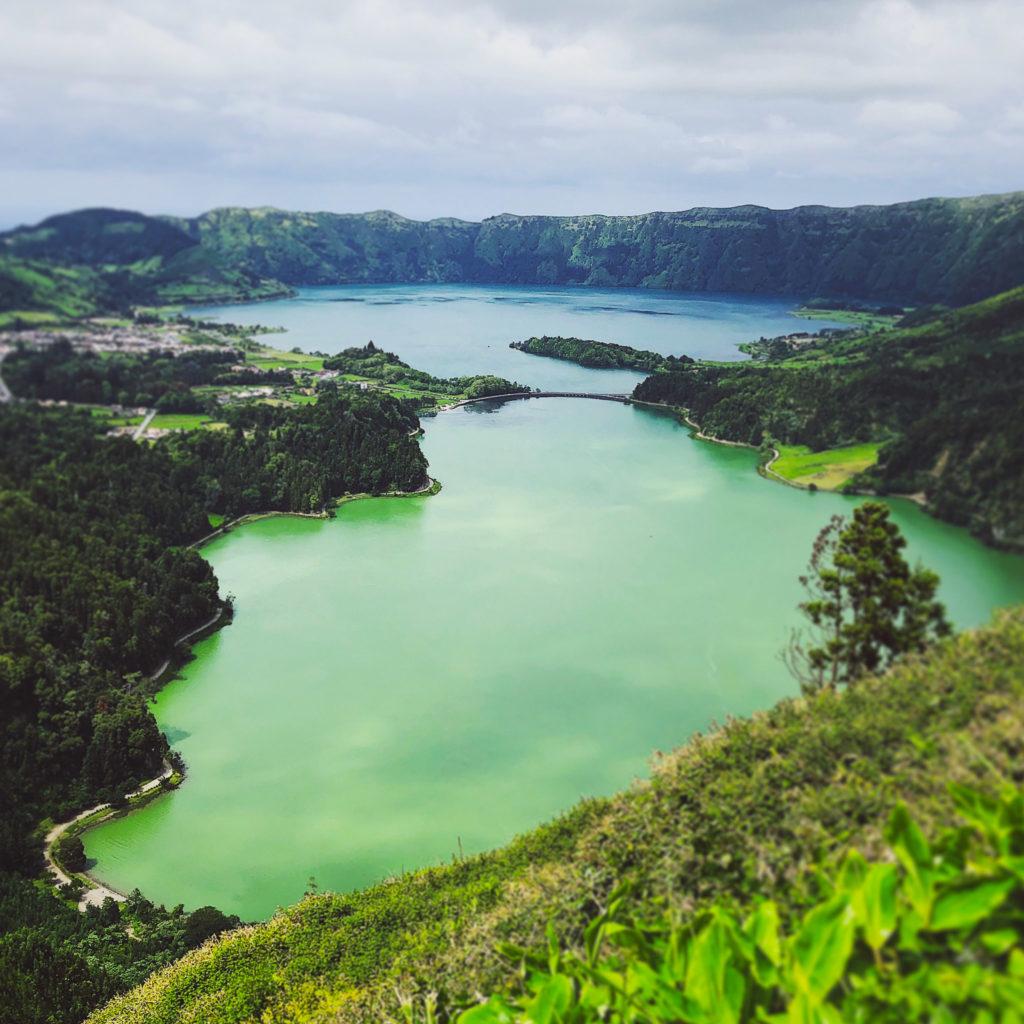 Sete Cidades mit Lagoa Azul & Lagoa Verde