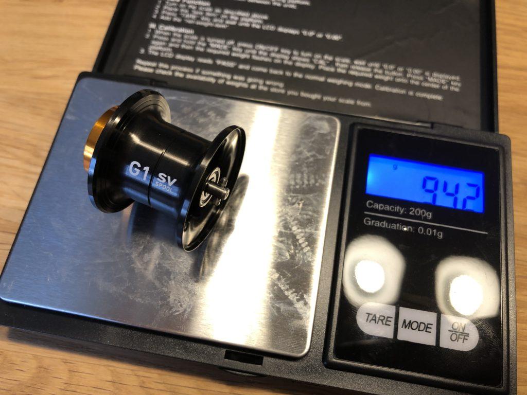 Die Daiwa G1 SV Spool wiegt federleichte 9,42g